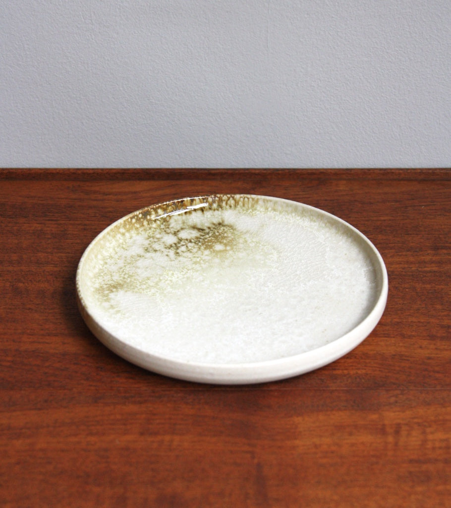 MK2 Rimmed Plate White and Yellow Glaze Kasper Würtz - Image 1