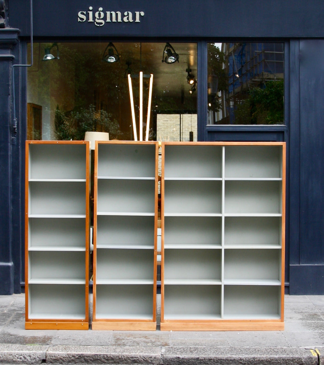 Narrow Bookcase #2 Børge Mogensen & Grete Meyer - kings road image Quality Danish Modern Beautiful Handmade Danish Design Architect Designed Simple Built for the future Storage original