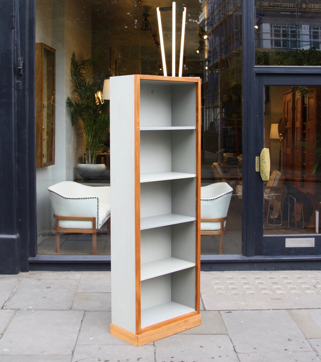Narrow Bookcase #2 Børge Mogensen & Grete Meyer - Quality Danish Modern Beautiful Handmade Danish Design Architect Designed Simple Built for the future Storage original  made in denmark