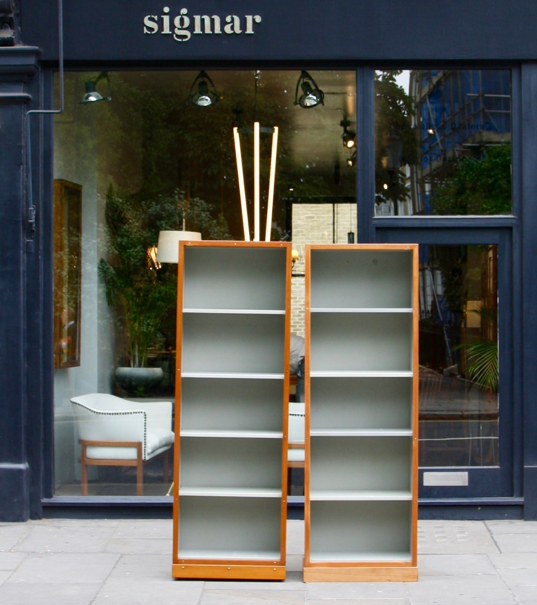 Narrow Bookcase #2 Børge Mogensen & Grete Meyer - kings road shop Quality Danish Modern Beautiful Handmade Danish Design Architect Designed Simple Built for the future Storage original