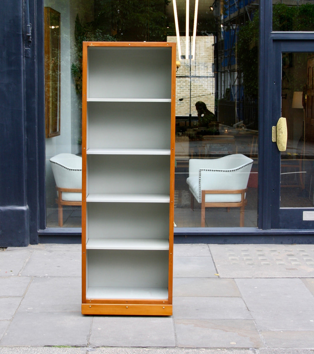 Narrow Bookcase Børge Mogensen & Grete Meyer - amazing Quality Danish Modern Beautiful Handmade Danish Design Architect Designed Simple Built for the future Storage original