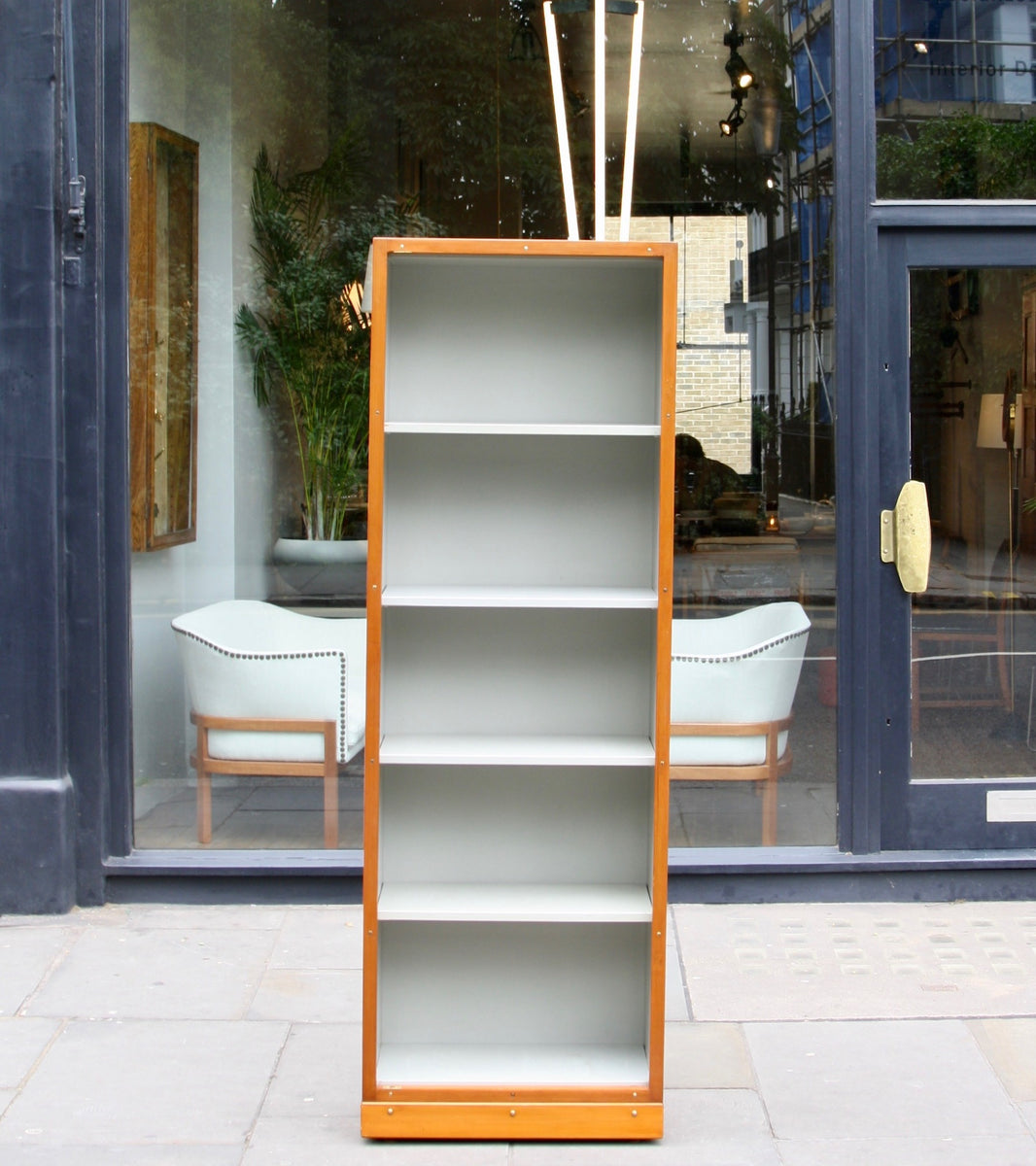 Narrow Bookcase Børge Mogensen & Grete Meyer - oregon pine Quality Danish Modern Beautiful Handmade Danish Design Architect Designed Simple Built for the future Storage original