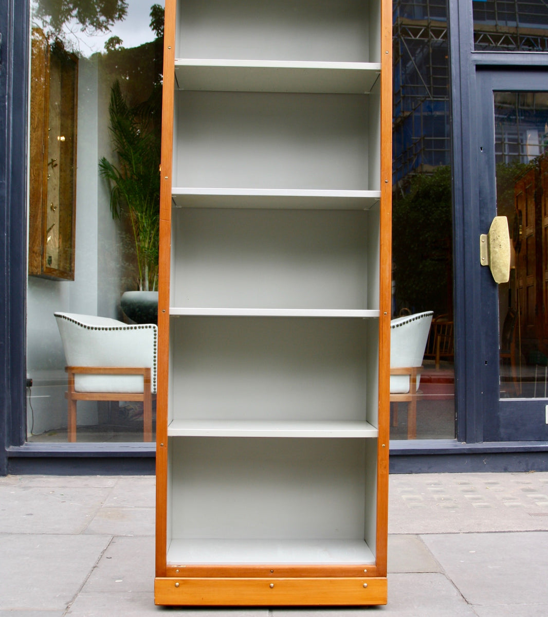 Narrow Bookcase Børge Mogensen & Grete Meyer - wonderful Quality Danish Modern Beautiful Handmade Danish Design Architect Designed Simple Built for the future Storage original
