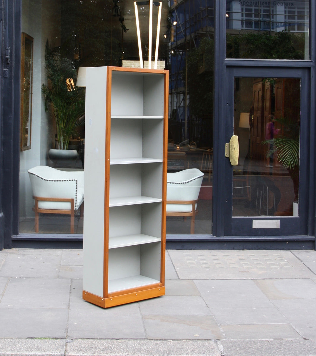 Narrow Bookcase Børge Mogensen & Grete Meyer - original Quality Danish Modern Beautiful Handmade Danish Design Architect Designed Simple Built for the future Storage original
