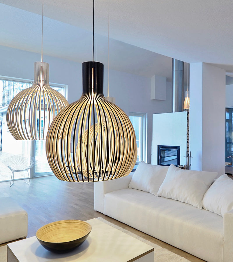 Secto Octo 4240 black white lights pendants minimalistic home