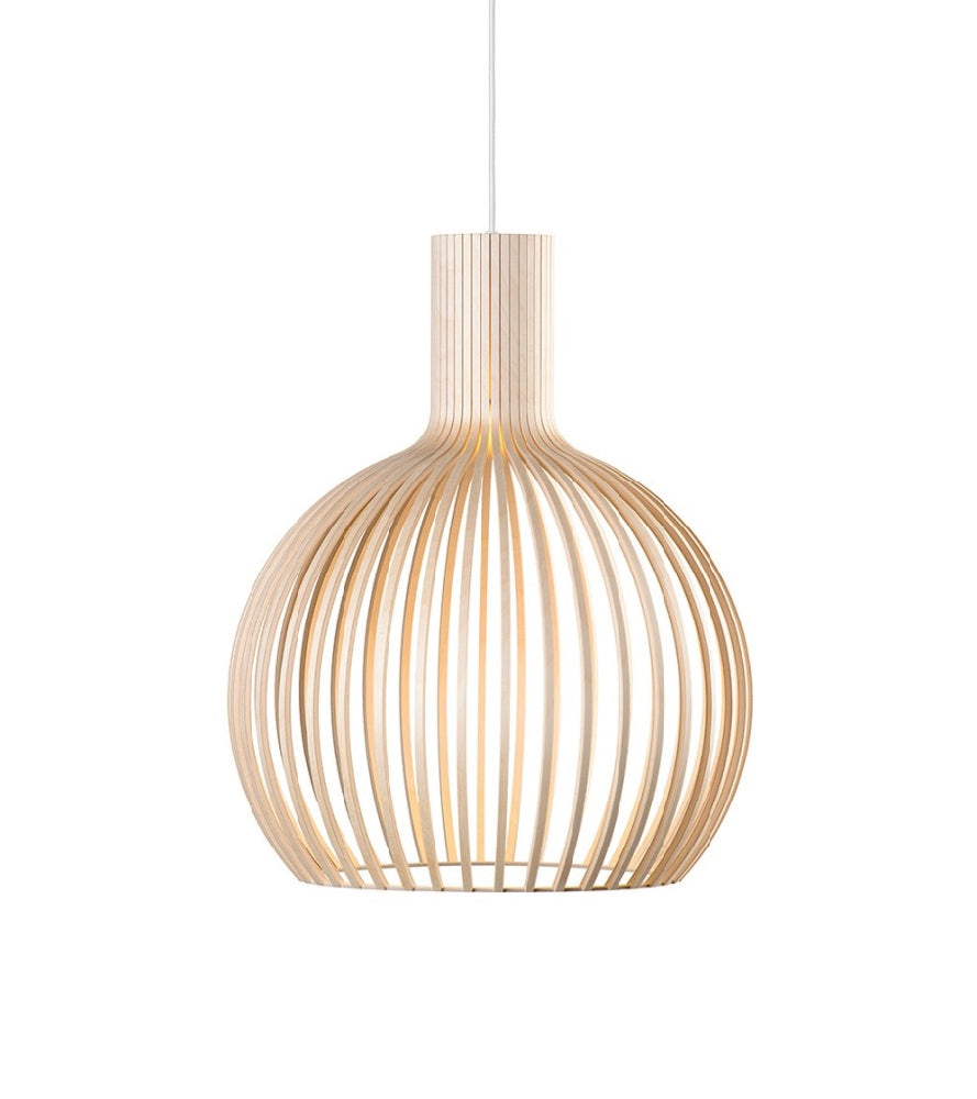 Octo Small 4241 Black, White, Birch Secto, Ecologically and socially sustainable forestry Wooden shade  Timeless Secto Design lamps  Authentic, sustainably manufactured design Scandi Seppo Koho Finland