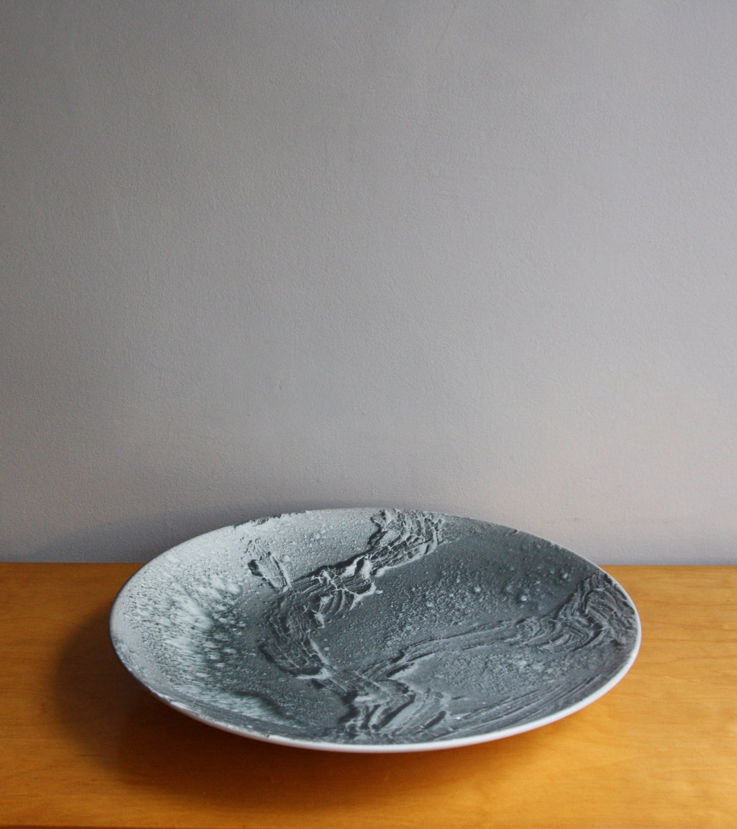 One Off Art PlateMonochromatic Black Glaze Kasper Würtz - Image 1