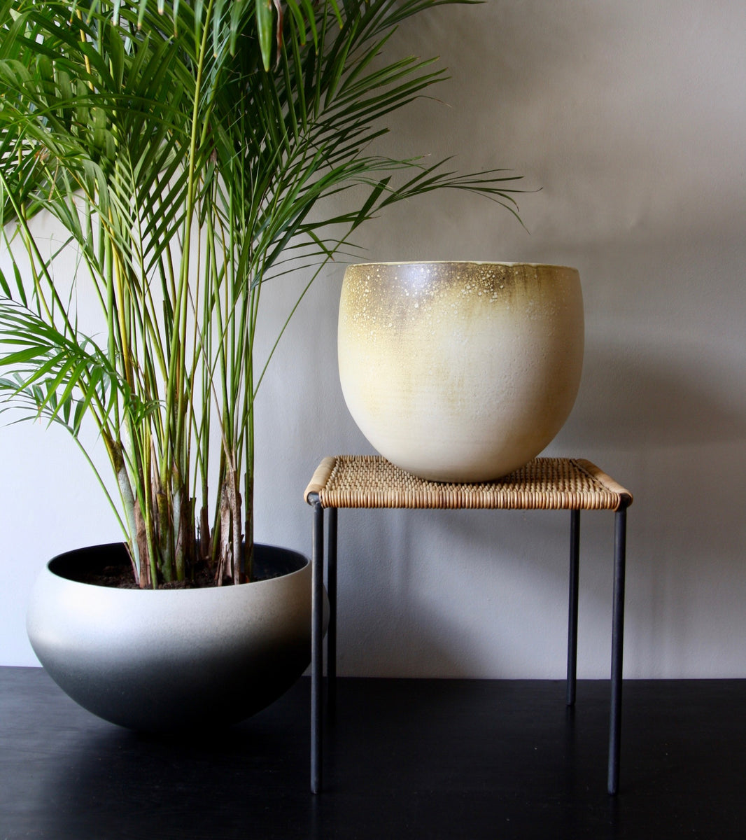 One Off Large Planter with White & Yellow Glaze  Kasper Würtz - Image 14