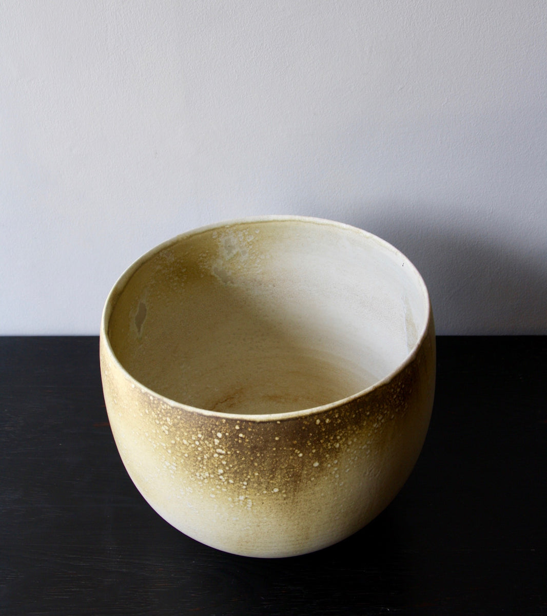 One Off Large Planter with White & Yellow Glaze  Kasper Würtz - Image 5