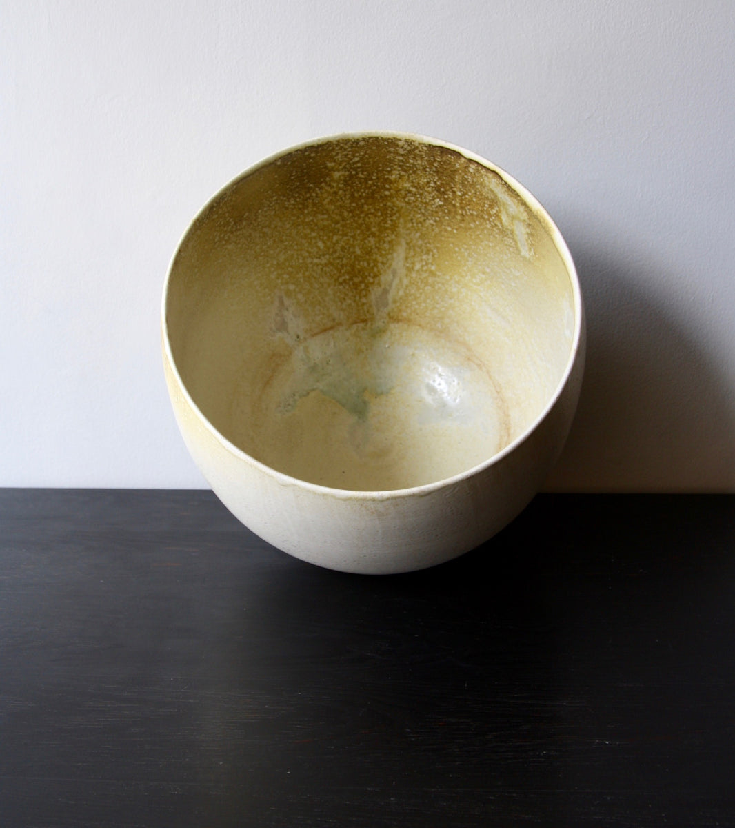 One Off Large Planter with White & Yellow Glaze  Kasper Würtz - Image 7