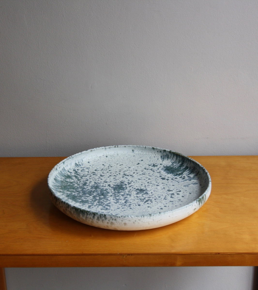 One Off Large PlatterBlue & White Glaze   Kasper Würtz - Image 1