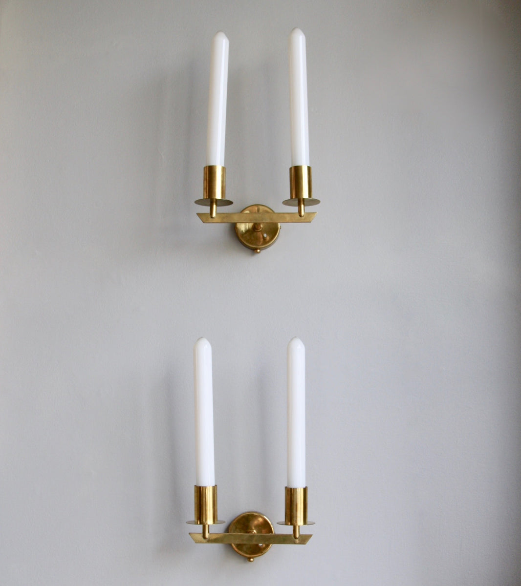 Pair of Brass Wall Sconces Itsu, Finland, C. 1950 - Image 2