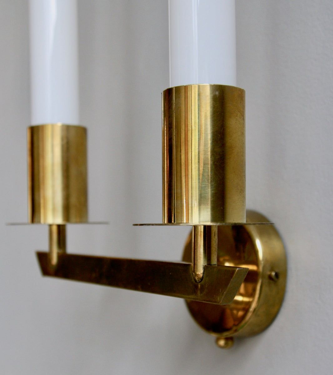 Pair of Brass Wall Sconces Itsu, Finland, C. 1950 - Image 4