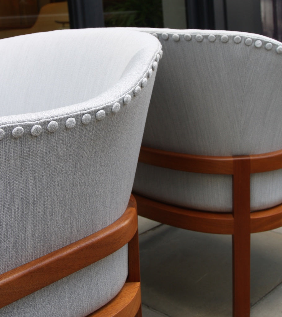 Pair of MK51 Easy Chairs Mogens Koch - Image 9