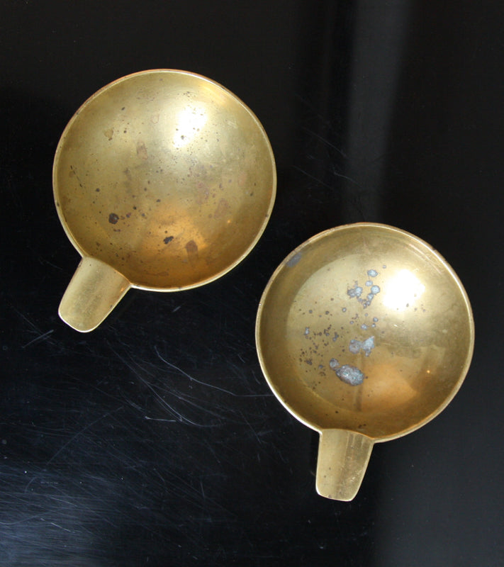 Pair of Small Brass Ashtrays Carl Auböck  - Image 10
