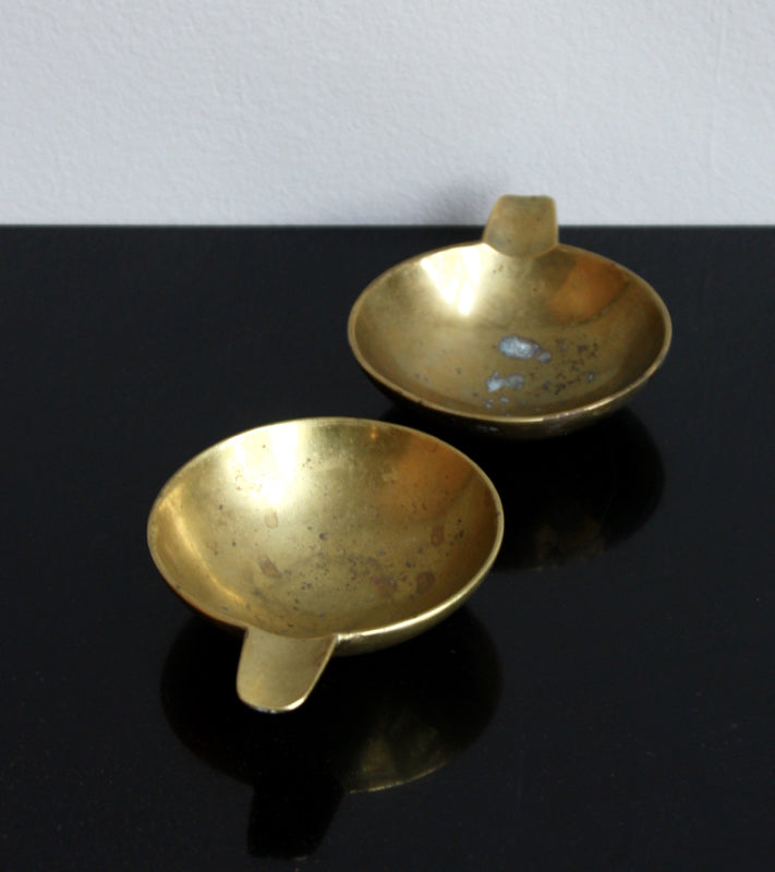 Pair of Small Brass Ashtrays Carl Auböck  - Image 13