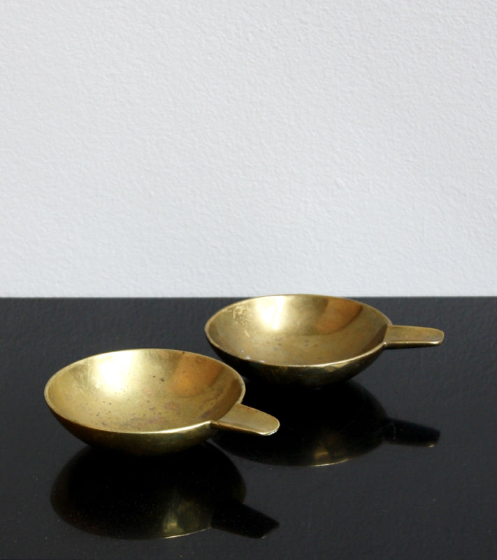 Pair of Small Brass Ashtrays Carl Auböck  - Image 1