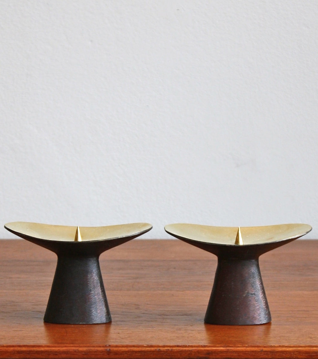 Patinated Brass Candlesticks Carl Auböck  - Image 2