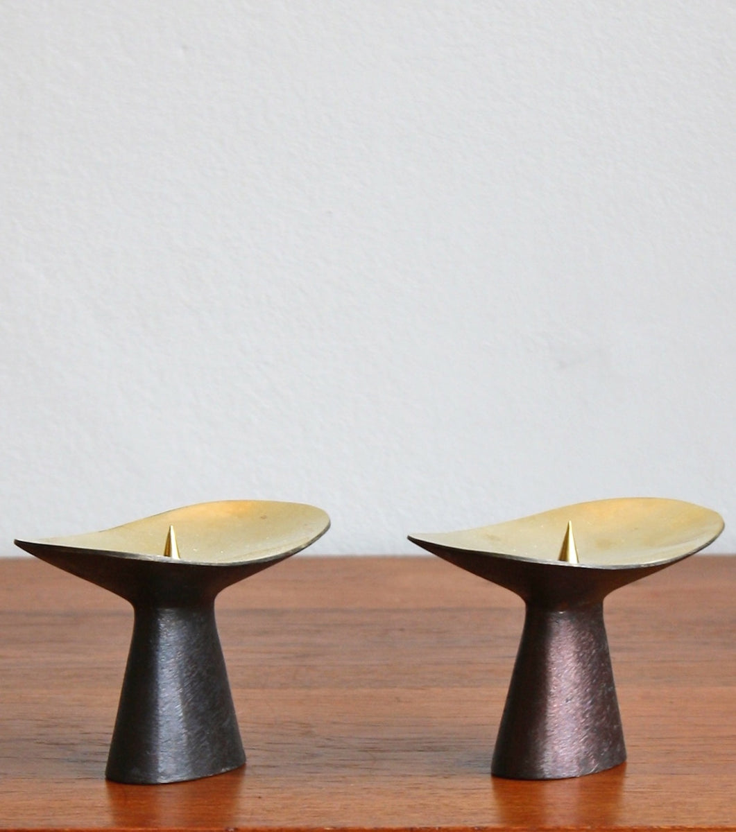 Patinated Brass Candlesticks Carl Auböck  - Image 3