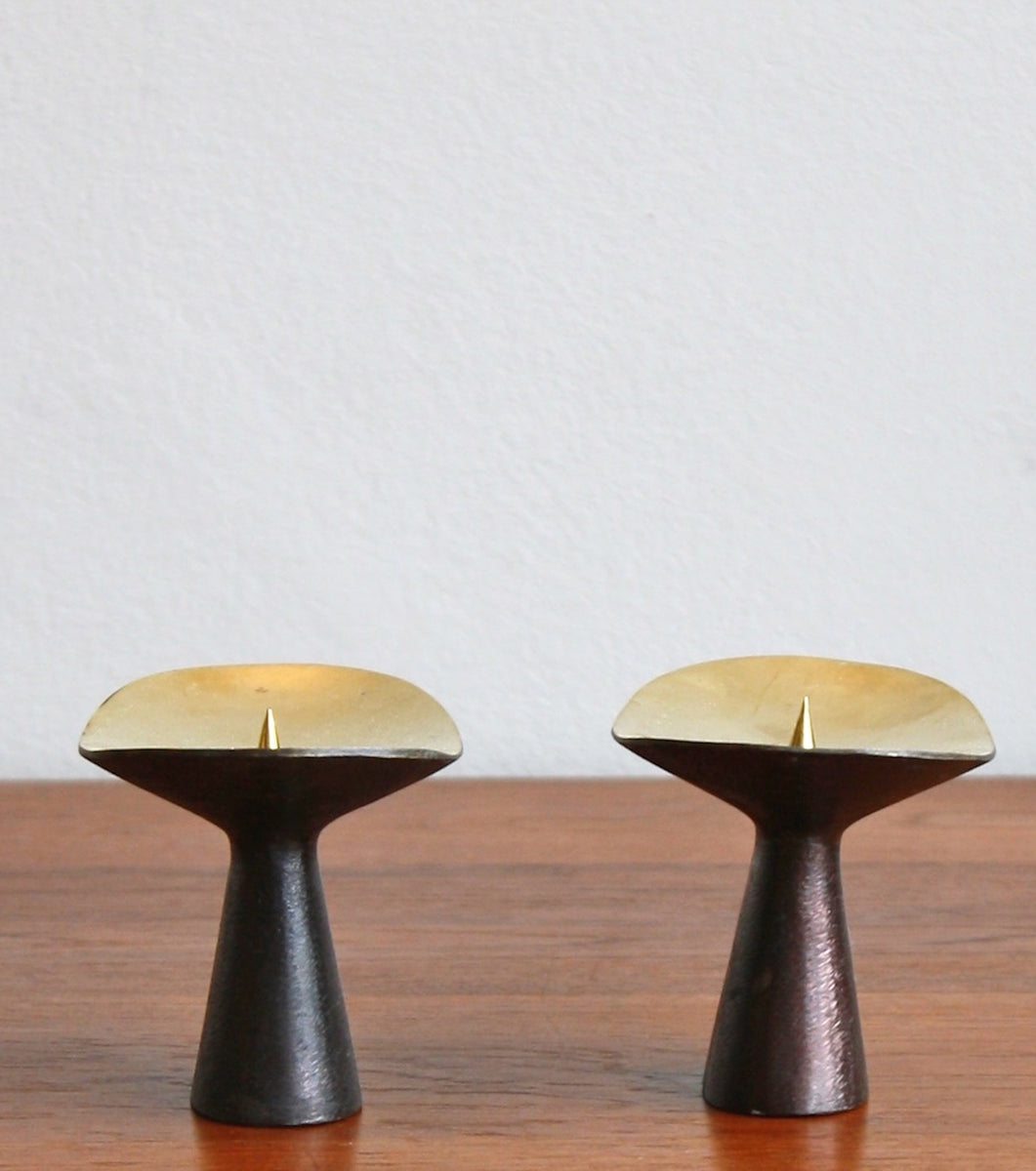 Patinated Brass Candlesticks Carl Auböck  - Image 4