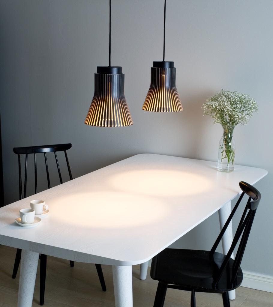 dining table Seppo Koho Pendant light Secto Finland Petite 4600 Black