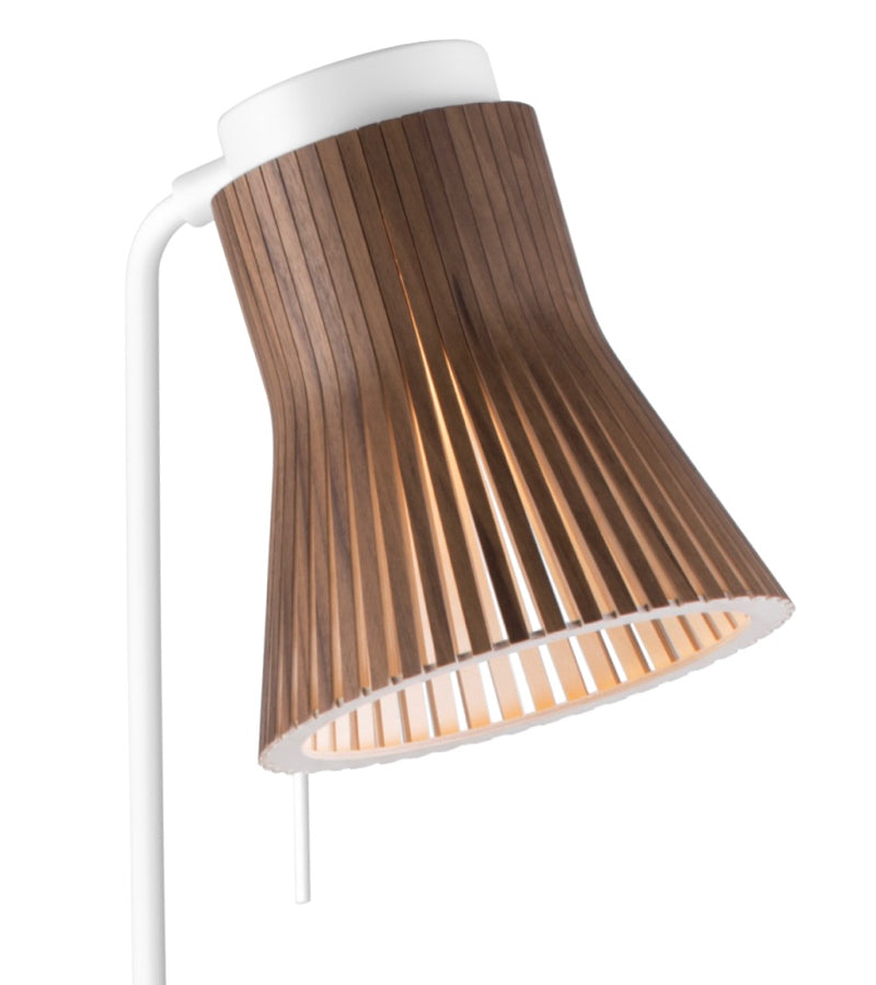 Elegant minimalistic wooden Petite Floor Light 4610 Walnut