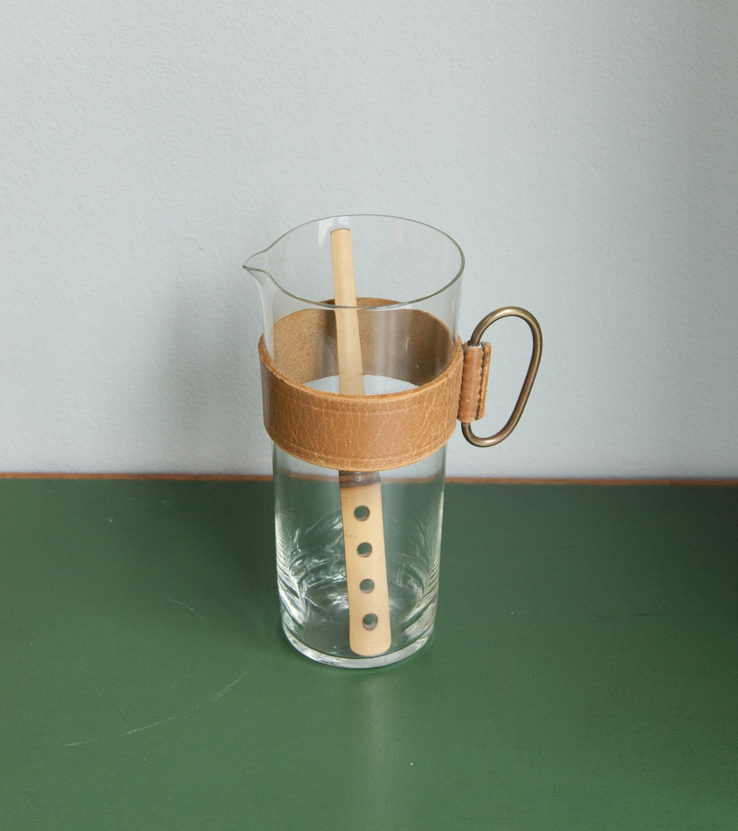Scandinavian Pitcher & Bamboo Stirrer, Carl Auböck