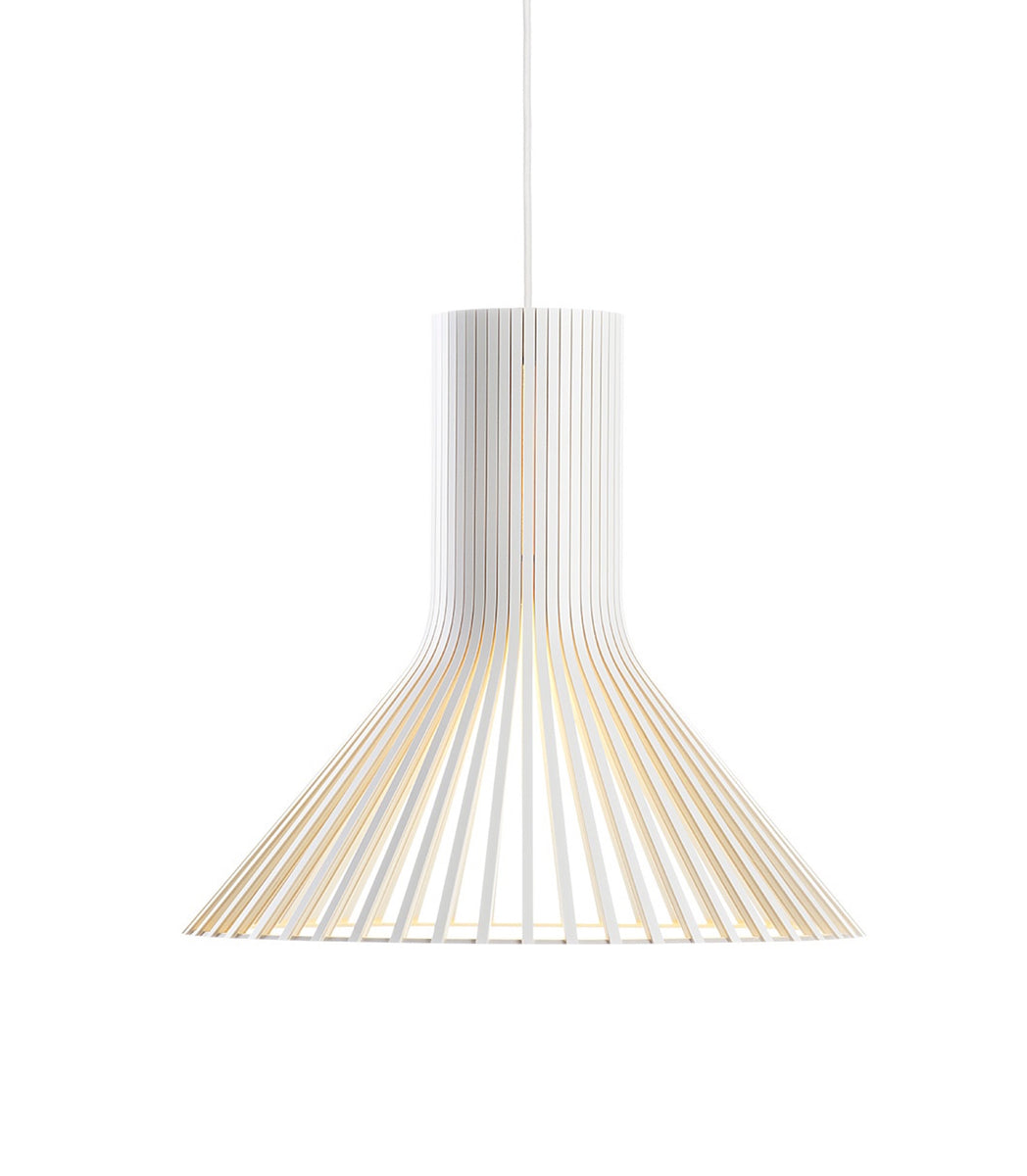 Design Secto Puncto Pendant 4203 White elegant suspension light beam PEFC-certified formpressed birch