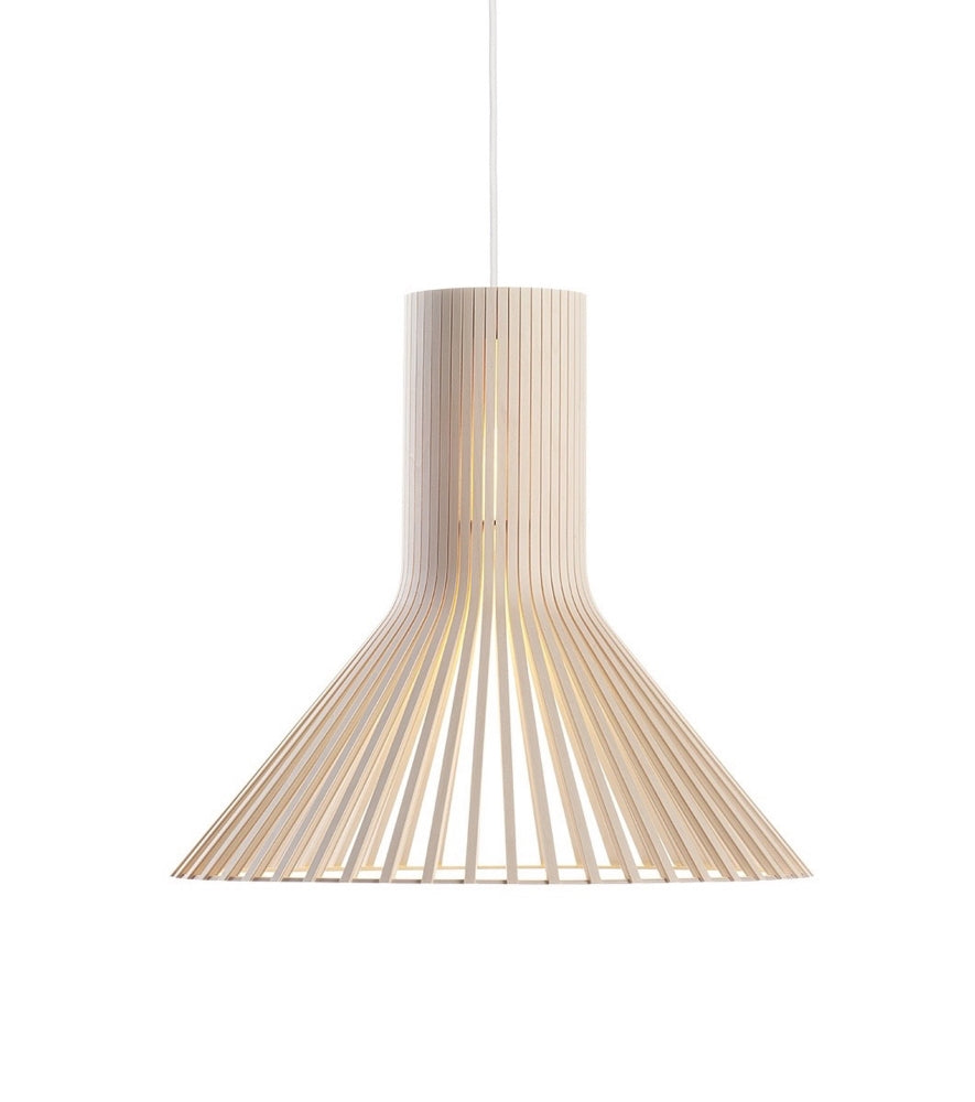 PEFC-certified birch Puncto Pendant 4203 White elegant suspension light beam