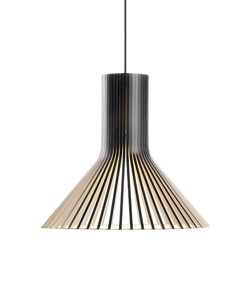 PEFC-certified birch Puncto Pendant 4203 Black Finnish suspension light beam