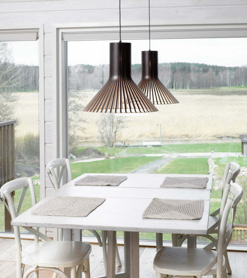 Secto Puncto Pendants 4203 Black Finnish suspension light beam kitchen scenery