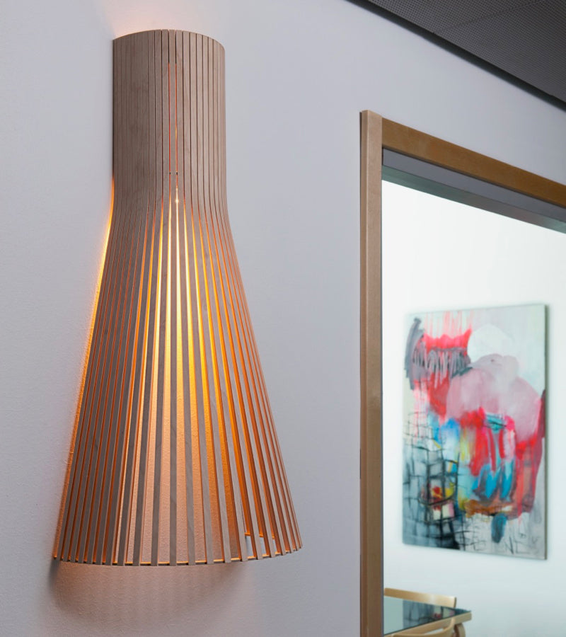 Finland  Secto Seppo Koho wall light 4230 Walnut 3