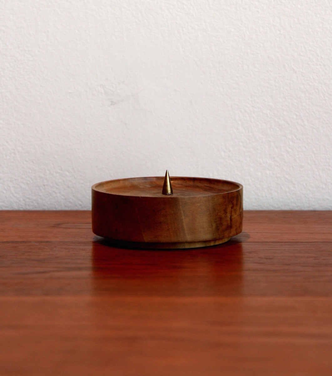 Round Walnut Simple Candlestick  Carl Auböck - Image 3