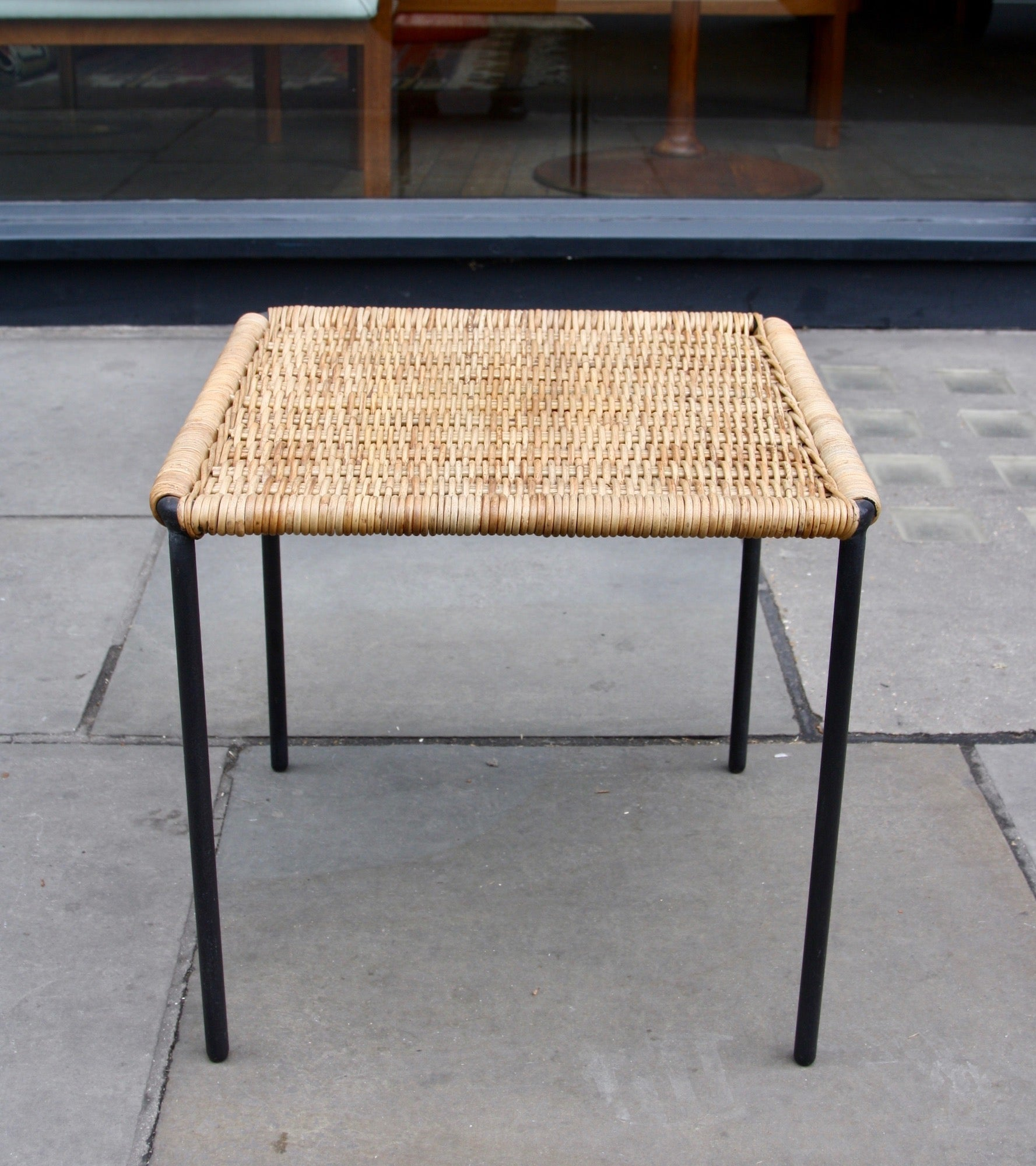 Square Wicker Table  Carl Auböck - Image 3