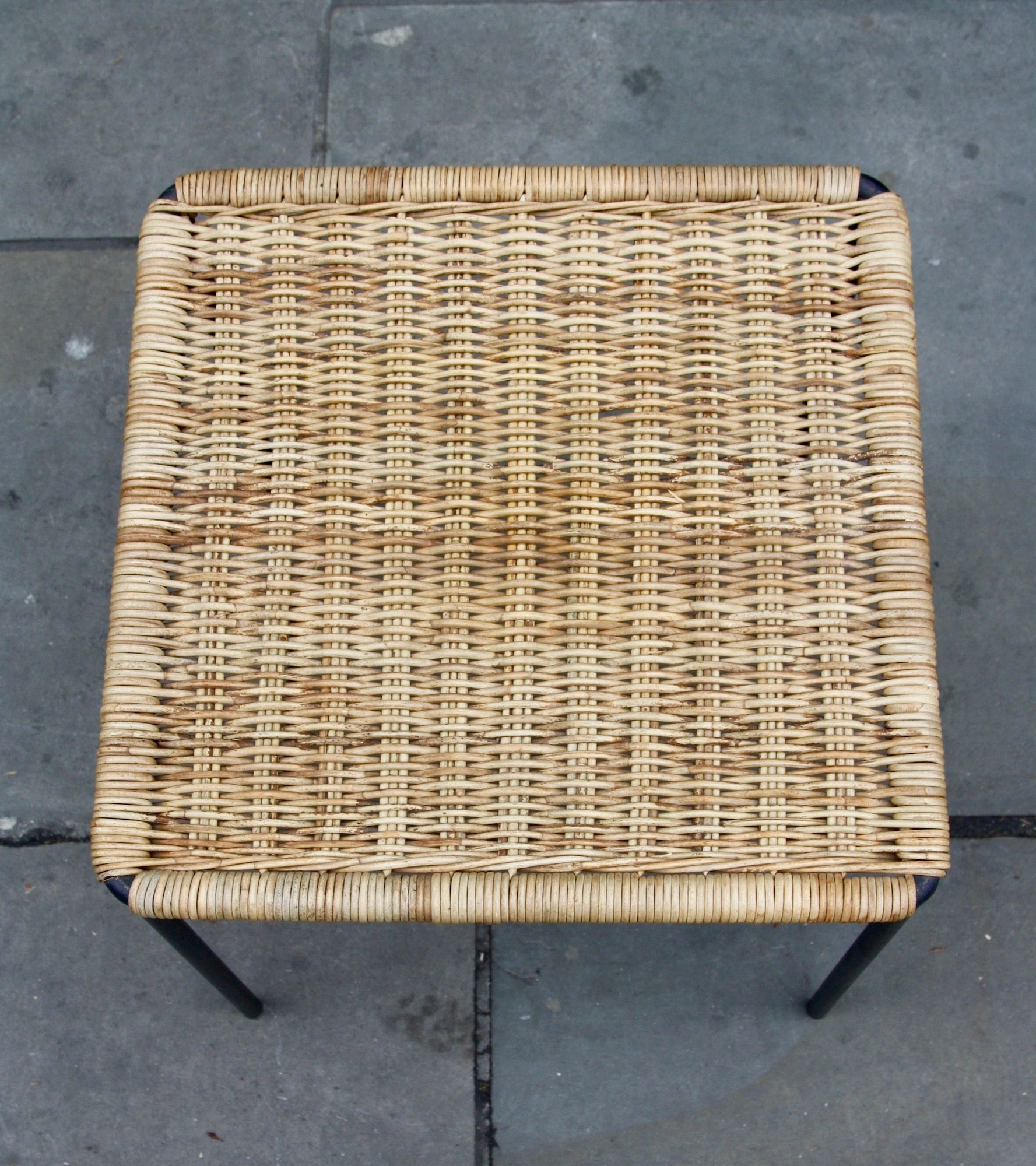 Square Wicker Table  Carl Auböck - Image 4