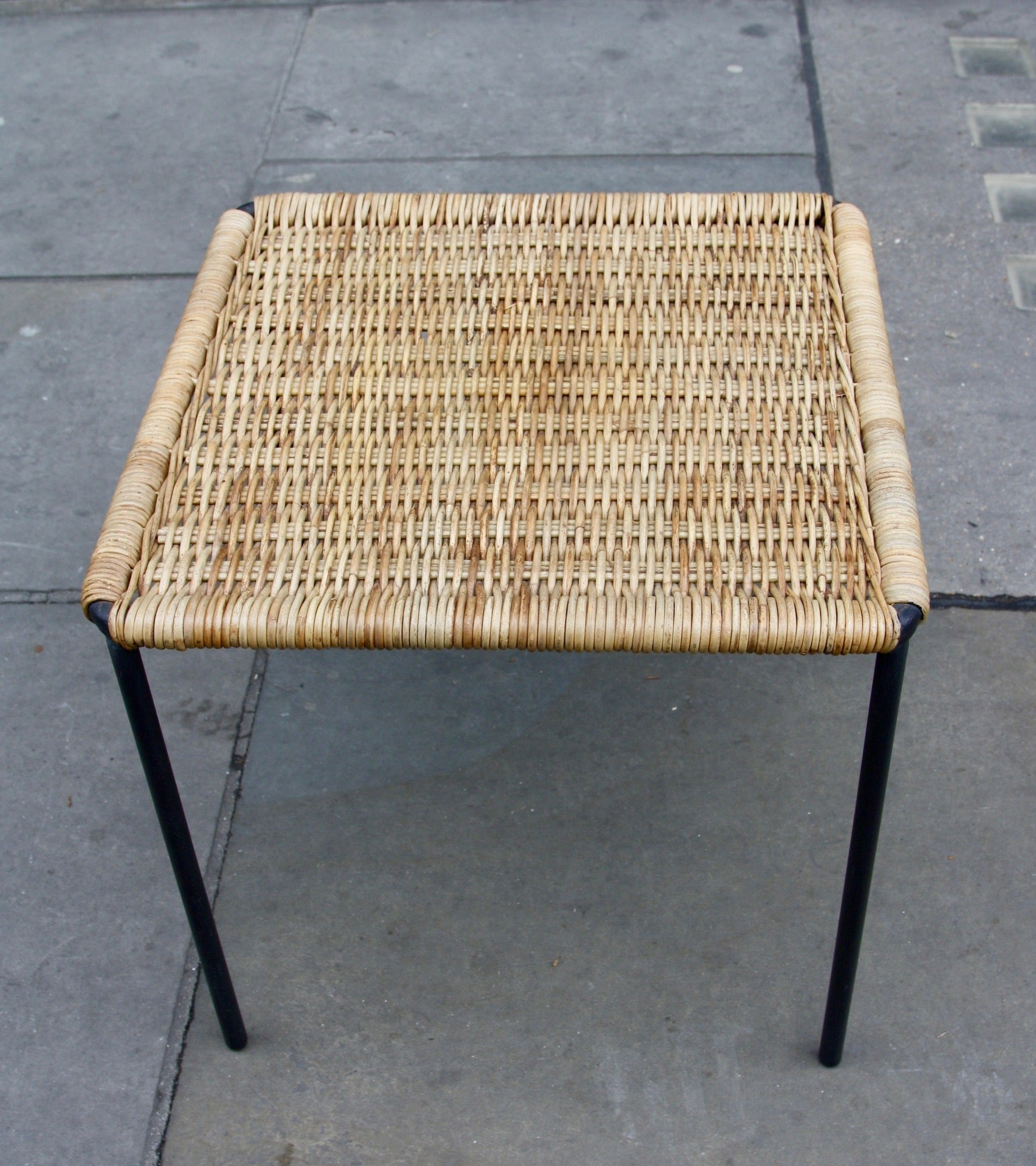 Square Wicker Table  Carl Auböck - Image 8