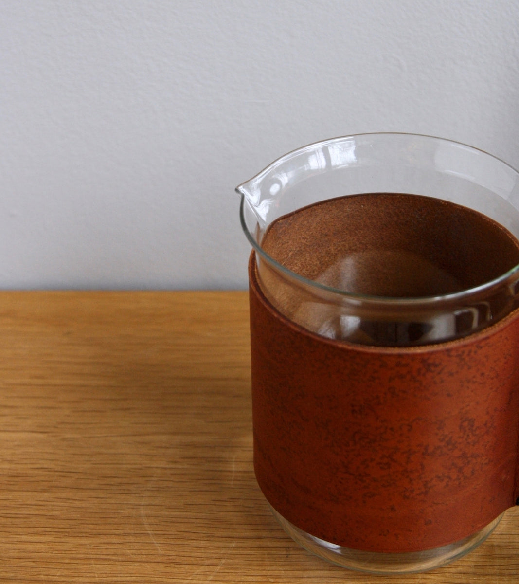 Round Tan Leather Jug & Glasses Carl Auböck - Image 7