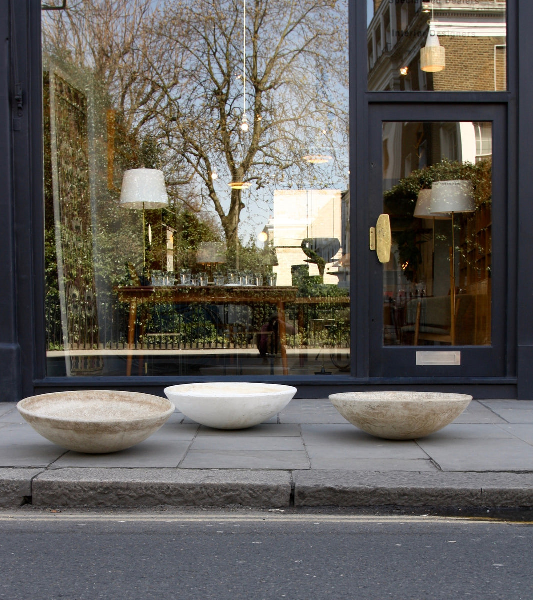Trio of Modernist Planters Willy Guhl - Image 12