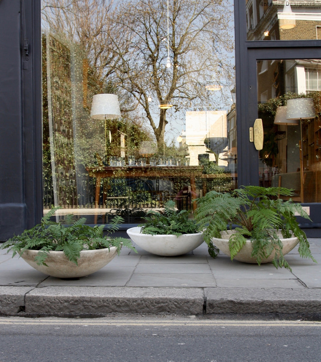 Trio of Modernist Planters Willy Guhl - Image 1