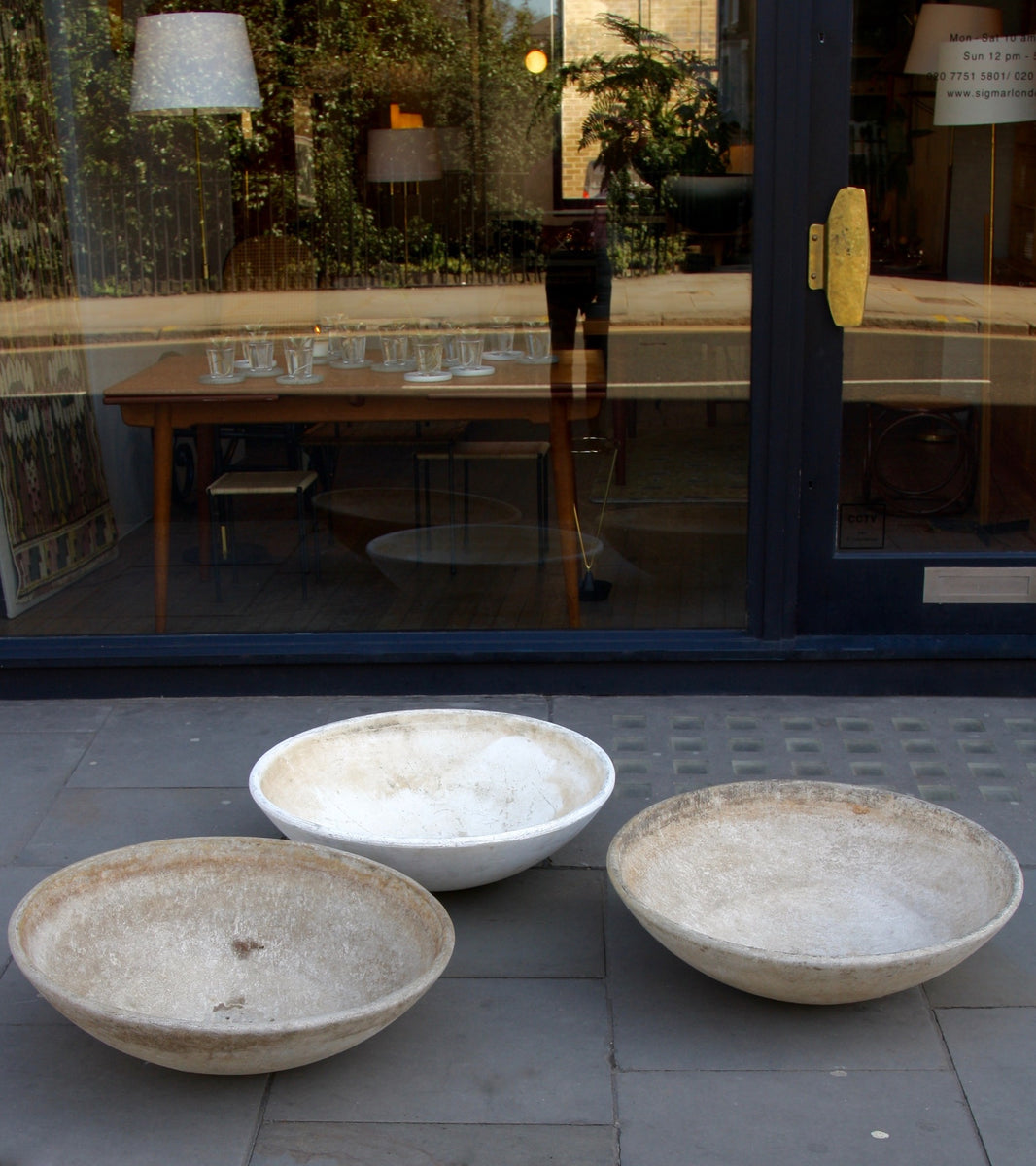 Organic Trio of Modernist Planters Willy Guhl - Image 4