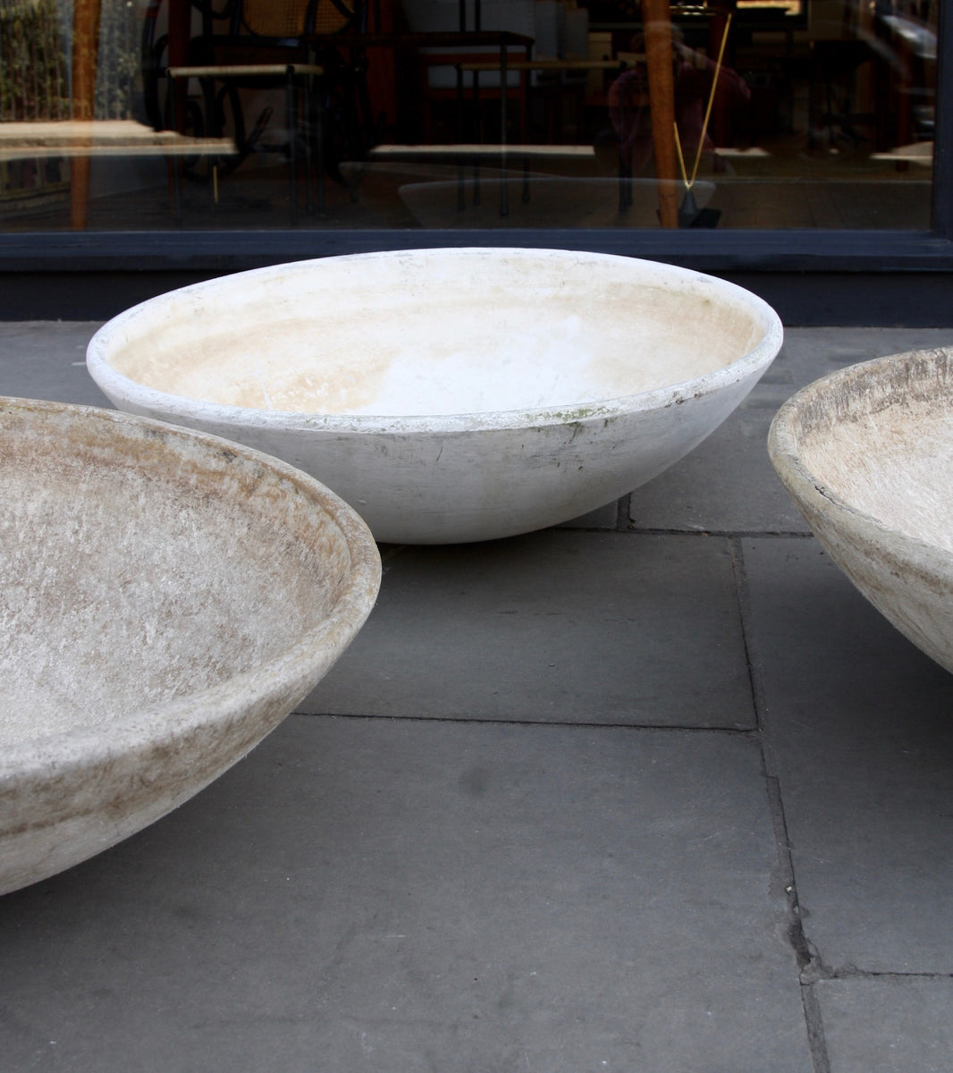 Oval Set of Three Modernist Planters Willy Guhl - Image 5