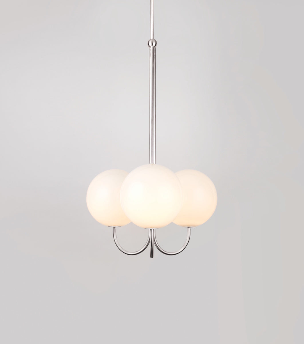 Triple AngleSatin Nickel-plated Brass Michael Anastassiades - Image 1