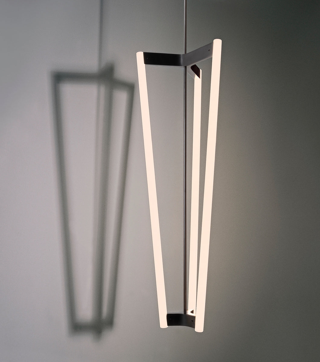 Tube Chandelier Black Patinated  Michael Anastassiades - Image 1