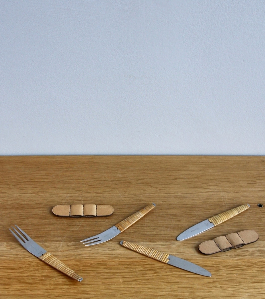 Two Sets of Stainless Steel Knives & Forks, Carl Auböck