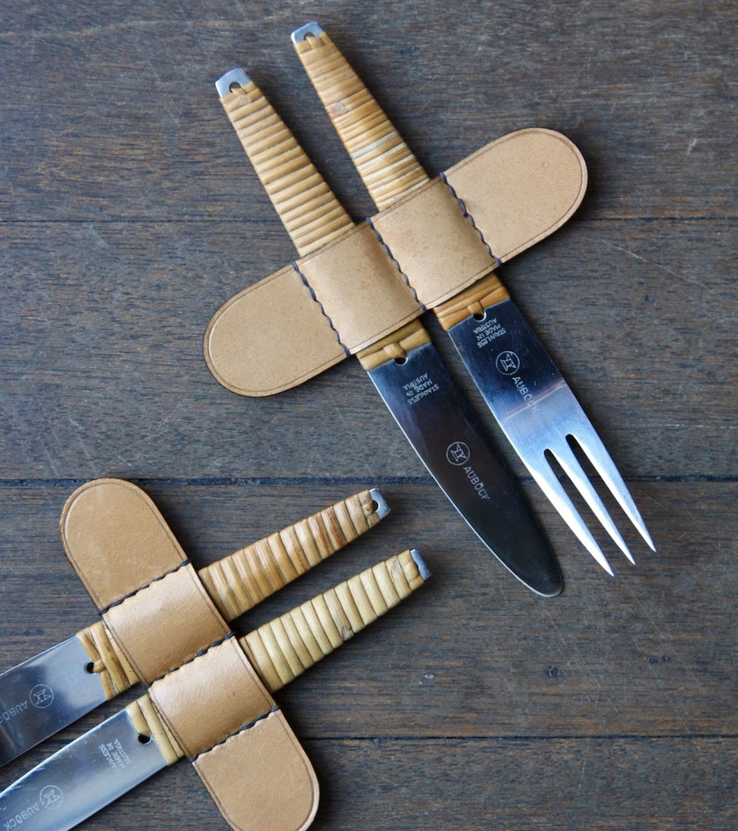 Two Sets of Mid-20th Century Craftsmanship Knives & Forks, Carl Auböck