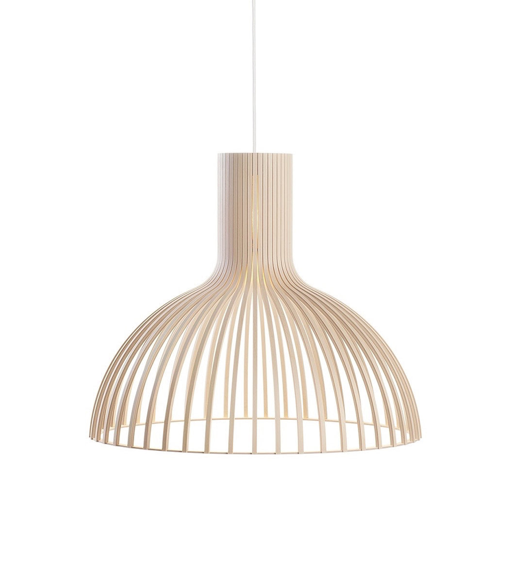 Victo 4250 Natural Birch wooden pendant Secto Design handmade contemporary lighting sustainable lights nordic Seppo Koho quality high end
