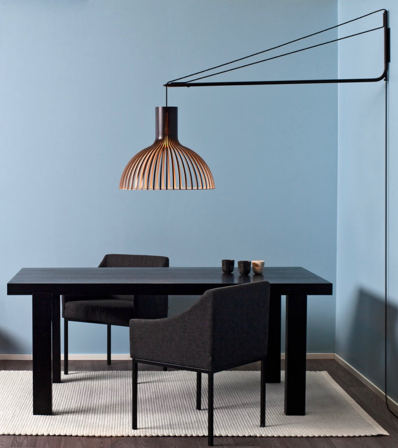 Victo 4250 Black wooden pendant Varsi 1000 Suspension Arm Secto Design handmade contemporary lighting nordic pendant Seppo Koho quality high end