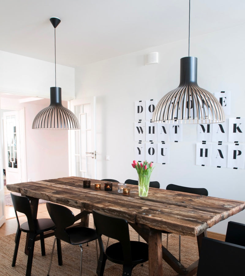 Victo 4250  Black, Secto Design lighting portfolio, scandi design Scandinavia contemporary pendants living room residential