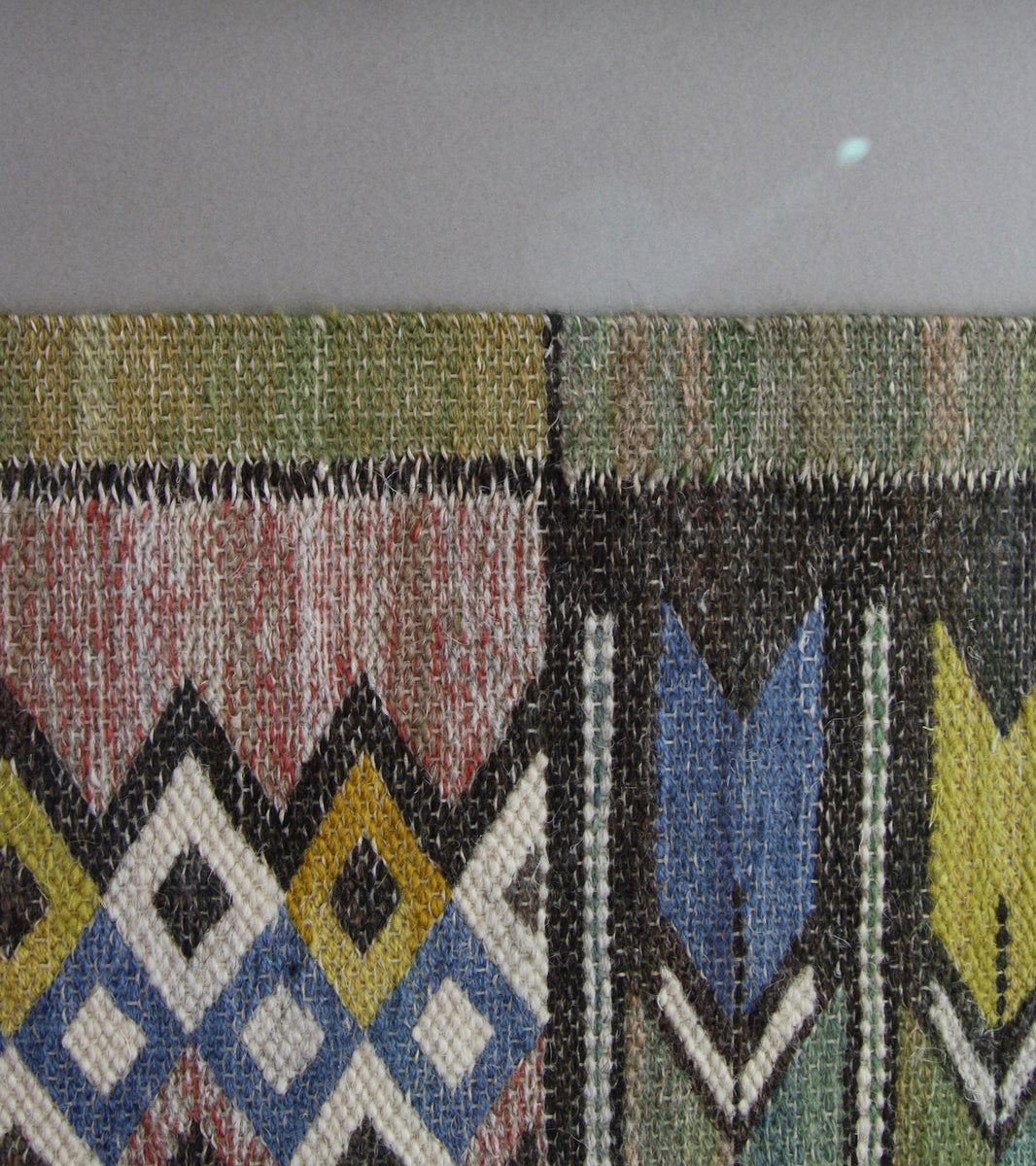 green blue yellow white red pink brown wallhanging