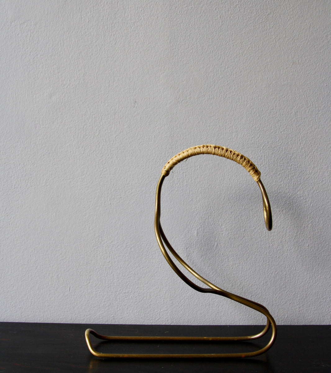 Solid Brass Wine Cradle, Carl Auböck